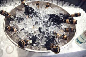 champagne, bottles, cooling