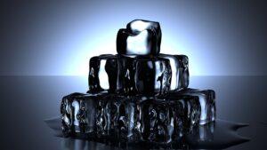 ice cubes, cold, melt